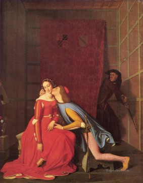neoclassical neoclassicism Painting - Paolo and Francesca 1819 Neoclassical Jean Auguste Dominique Ingres