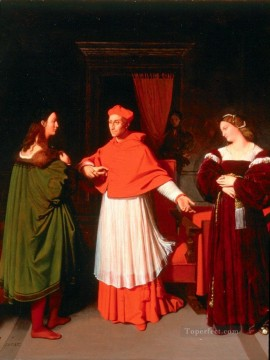 classical Painting - The betrothal of Raphael Neoclassical Jean Auguste Dominique Ingres