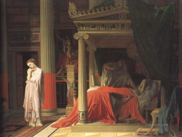 neoclassical neoclassicism Painting - Antiochus and Stratonice Neoclassical Jean Auguste Dominique Ingres