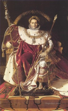 Napoleon I on His Imperial Throne Neoclassical Jean Auguste Dominique Ingres Oil Paintings