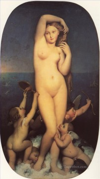 Venus Anadyomene nude Jean Auguste Dominique Ingres Oil Paintings