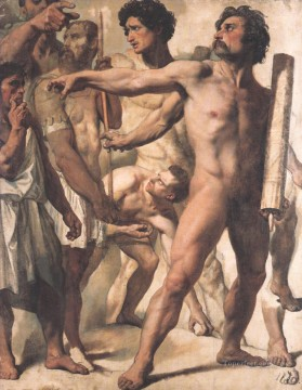 Study for The Martyrdom of St Symphorien nude Jean Auguste Dominique Ingres Oil Paintings