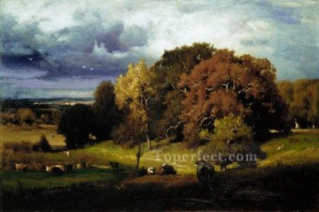 George Inness Painting - Autumn Oaks Tonalist George Inness
