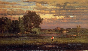 Inness Canvas - Clearing Up Tonalist George Inness