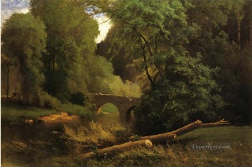 Cromwells Bridge Tonalist George Inness Oil Paintings