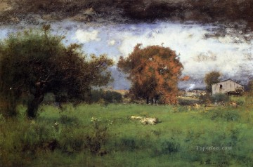 Inness Canvas - Early Autumn Montclair2 Tonalist George Inness