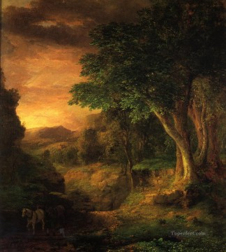 Inness Canvas - In the Berkshires Tonalist George Inness