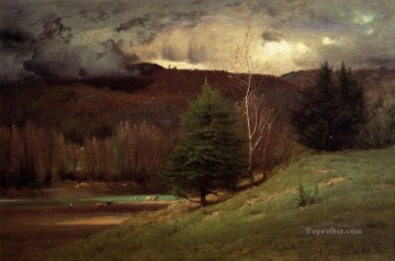Kearsarge Village Tonalist George Inness Oil Paintings