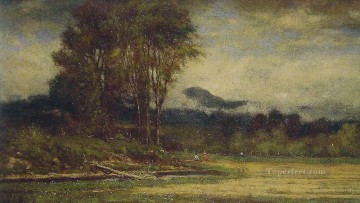 Inn Painting - Landscape with Pond Tonalist George Inness