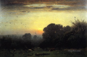 George Inness Painting - Morning Tonalist George Inness