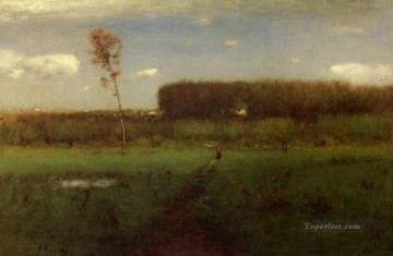 George Inness Painting - October Noon Tonalist George Inness