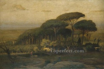 Pine Grove Of The Barberini Villa Tonalist George Inness Oil Paintings