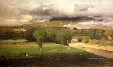 Inness Canvas - Sacco Ford Conway Meadows Tonalist George Inness