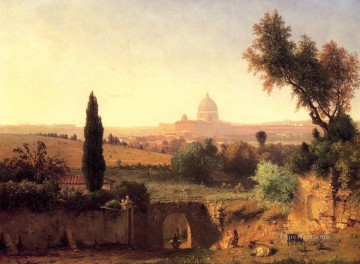 George Inness Painting - St Peters Rome Tonalist George Inness
