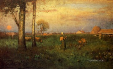 Inness Canvas - Sundown Tonalist George Inness