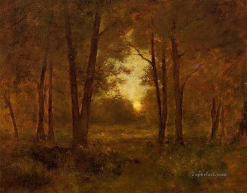 Inness Canvas - Sundown near Montclair Tonalist George Inness