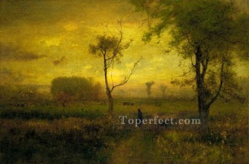 sunset sunrise Painting - Sunrise Tonalist George Inness