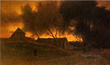 Inness Canvas - The Gloaming Tonalist George Inness