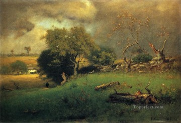 Inness Canvas - The Storm2 Tonalist George Inness