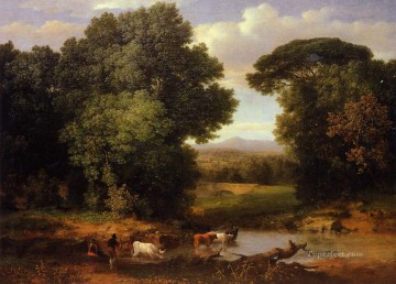 George Inness Painting - A Bit of Roman Aqueduct Tonalist George Inness
