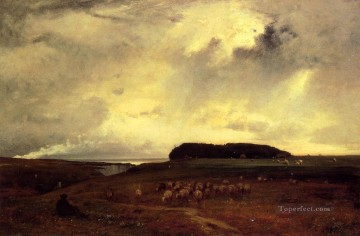 George Inness Painting - The Storm Tonalist George Inness