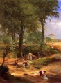 Washing Day near Perugia aka Italian Washerwomen Tonalist George Inness