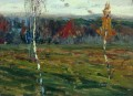 autumn birches 1899 Isaac Levitan