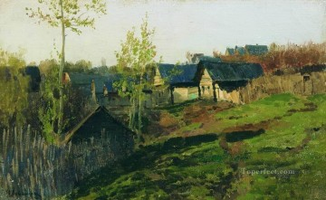 Isaac Ilyich Levitan Painting - isbas lighted by sun 1889 Isaac Levitan