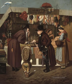 Artworks by 350 Famous Artists Painting - Bartering at the market Isidor Kaufmann Hungarian Jewish