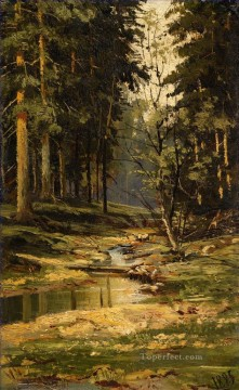 FOREST BROOK classical landscape Ivan Ivanovich Oil Paintings