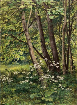 Forest flowers classical landscape Ivan Ivanovich Oil Paintings