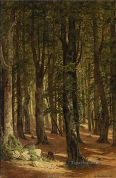 IN THE WOODS classical landscape Ivan Ivanovich Oil Paintings