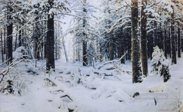 Winter classical landscape Ivan Ivanovich Oil Paintings