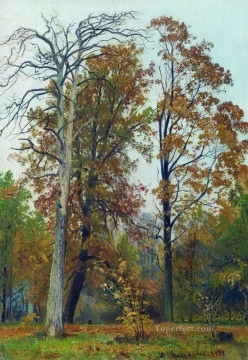 autumn 1894 classical landscape Ivan Ivanovich Oil Paintings