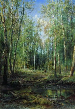 birch grove 1875 classical landscape Ivan Ivanovich Oil Paintings