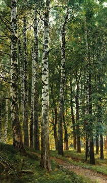 birch grove 1896 classical landscape Ivan Ivanovich Oil Paintings