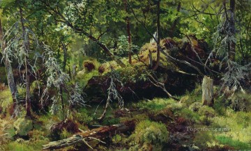 Ivan Ivanovich Shishkin Painting - branches classical landscape Ivan Ivanovich
