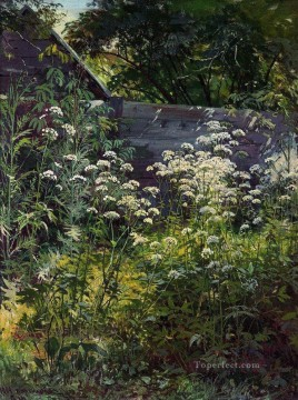row - corner of overgrown garden goutweed grass 1884 classical landscape Ivan Ivanovich
