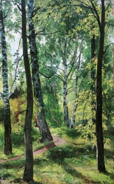 deciduous forest 1897 classical landscape Ivan Ivanovich Oil Paintings