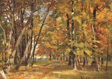 Ivan Ivanovich Shishkin Painting - early autumn 1889 classical landscape Ivan Ivanovich