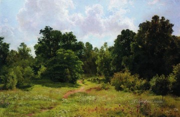 edge of the deciduous forest 1895 classical landscape Ivan Ivanovich Oil Paintings