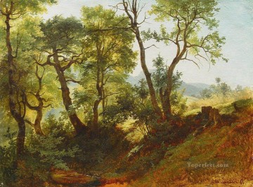 edge of the forest 1866 classical landscape Ivan Ivanovich Oil Paintings