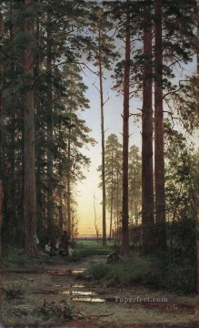 edge of the forest 1879 classical landscape Ivan Ivanovich Oil Paintings