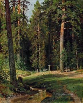 edge of the forest 1884 classical landscape Ivan Ivanovich Oil Paintings