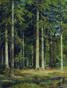 fir forest 1891 classical landscape Ivan Ivanovich Oil Paintings