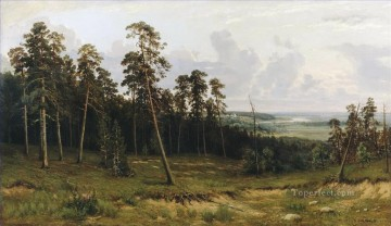 fir forest on the river kama 1877 classical landscape Ivan Ivanovich Oil Paintings