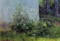 flowers at the fence classical landscape Ivan Ivanovich