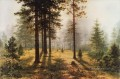 fog in the forest classical landscape Ivan Ivanovich