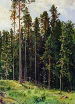 forest 1892 classical landscape Ivan Ivanovich Oil Paintings