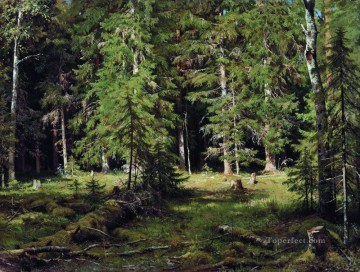 forest 3 classical landscape Ivan Ivanovich Oil Paintings